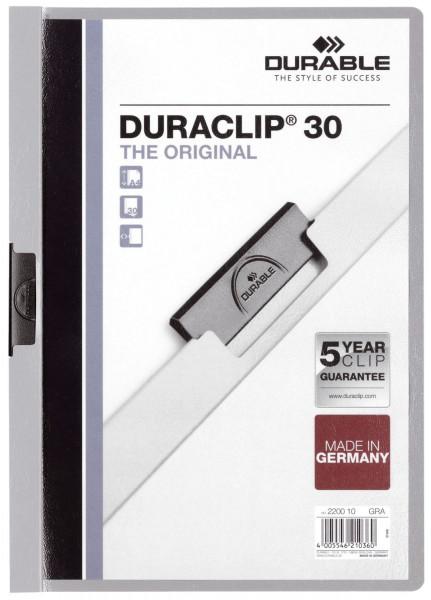 Klemm-Mappe DURACLIP® 30, DIN A4, grau