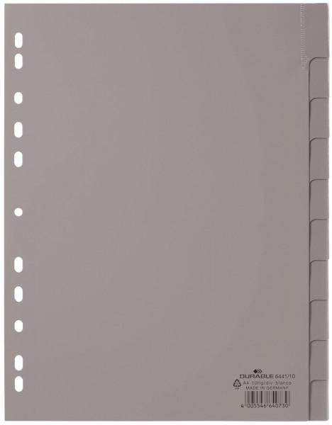 Durable 6441 Register blanko, grau, PP A4, 10 Blatt