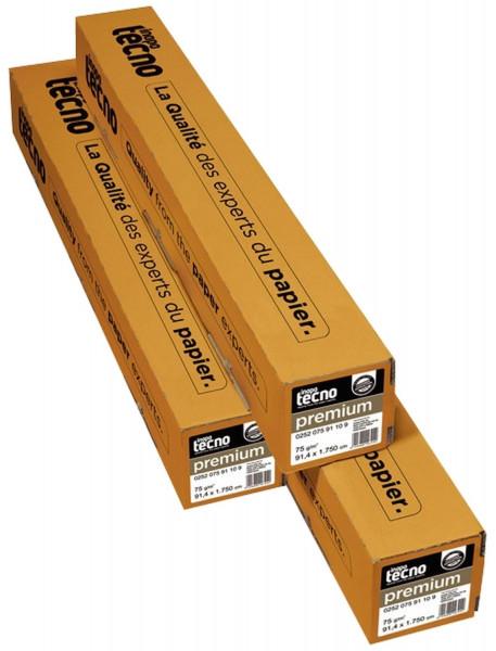 Inapa tecno Kopierrolle A4 297mm x 175m 75 g/qm, Kern-Ø 7,50 cm 2 Rollen