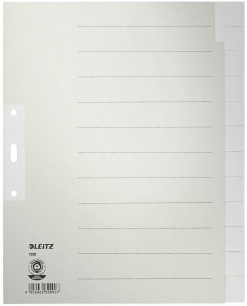 1222 Register - Tauenpapier, blanko, A4 Überbreite, 12 Blatt, grau