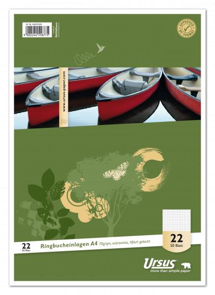 Ursus Basic Ringbucheinlage LIN22 A4 50 Blatt 70g/qm 5mm kariert