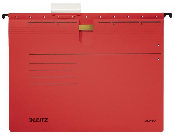 Leitz 1984 rot Hängehefter ALPHA® - kfm. Heftung, Recyclingkarton