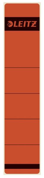 1643 Rückenschilder - Papier, kurz/schmal, 10 Stück, rot