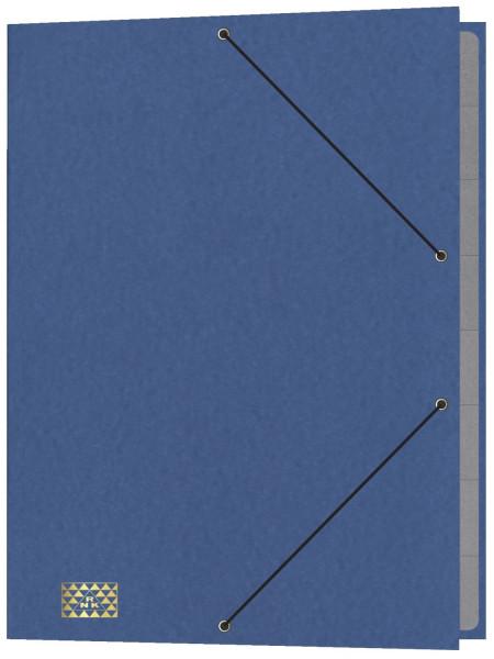 Konferenz- und Ordnungsmappe mit Gummizug, 9 Fächer, blau