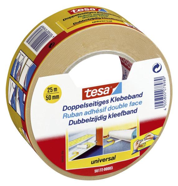 Tesa® 56172 Doppelseitiges Klebeband Universal 50mm x 25m