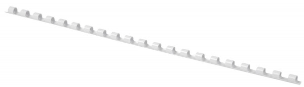 Plastik-Binderücken, 6 mm, für 25 Blatt, weiß, 100 Stück