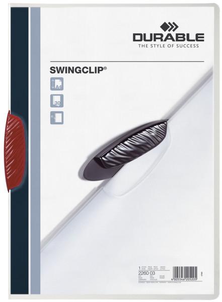 Klemm-Mappe SWINGCLIP®, DIN A4, rot