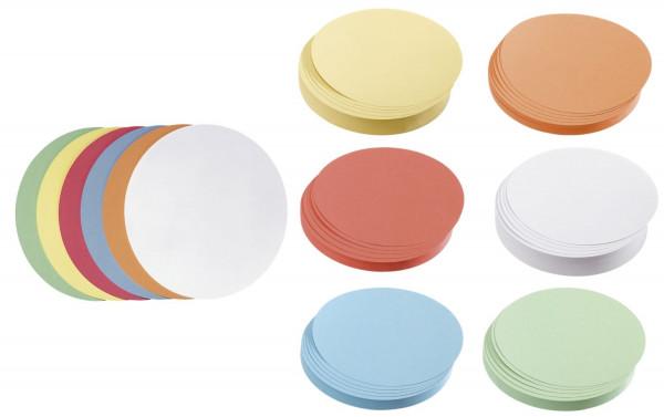 Moderationskarte Kreis groß, 195 mm, sortiert, 500 Stück
