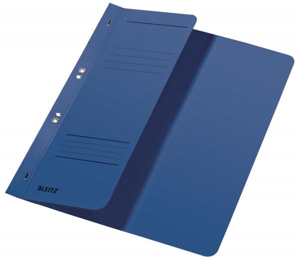 Leitz 3740 Ösenhefter, blau, halber Vorderdeckel, A4, kfm. Heftung, Manilakarton, Halbhefter