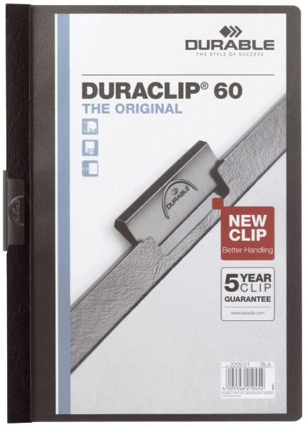 Klemm-Mappe DURACLIP® 60, DIN A4, schwarz