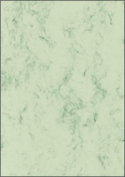 Marmor-Papier, pastellgrün, A4, 90 g/qm, 100 Blatt