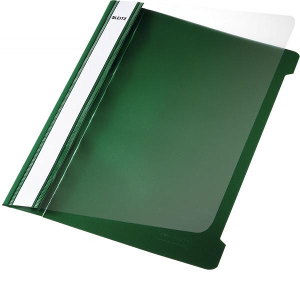 Leitz 4197 Schnellhefter A5, grün, langes Beschriftungsfeld, PVC