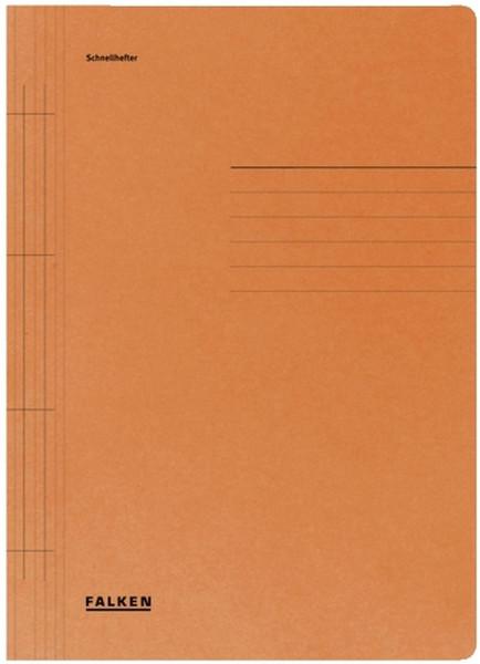 Falken Karton Schnellhefter orange Manilakarton