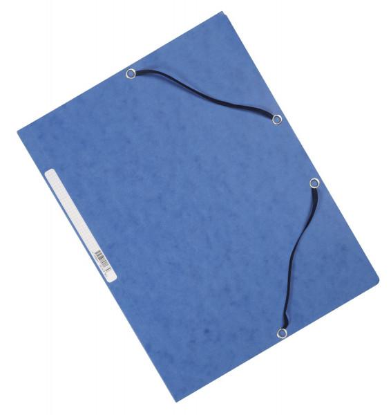Q-Connect Eckspanner Karton A4 mit Gummizug blau