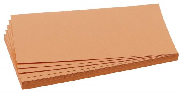Moderationskarte, Rechteck, 205 x 95 mm, orange, 500 Stück