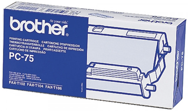 Brother® Thermotransfer-Rollen schwarz, 144 Seiten, PC75