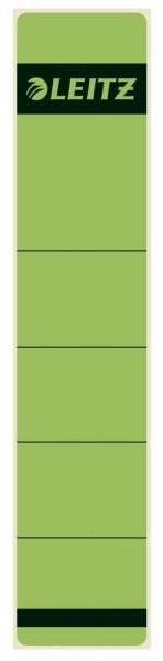 1643 Rückenschilder - Papier, kurz/schmal, 10 Stück, grün