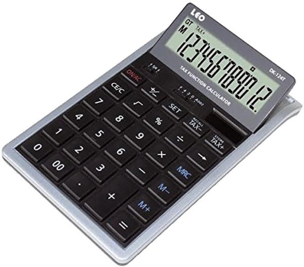 LEO® Tischrechner DK-124T, 12-stellig, bewegliches Display