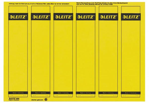 1686 PC-beschriftbare Rückenschilder - Papier, kurz/schmal, 150 Stück, gelb