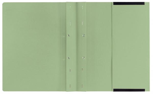 Kanzleihefter B ungefalzt - Rechtsheftung/Linksheftung, 1 Tasche, 2 Abheftvorrichtung, grün