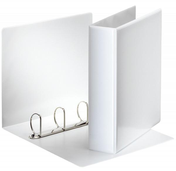 Ringbuch Präsentation, mit Taschen, A4, PP, 4 Ringe, 50 mm, weiß