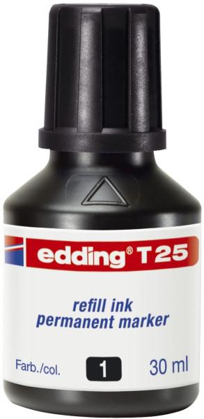 Edding T 25 schwarz Nachfülltusche für Permanentmarker, 30 ml,