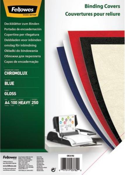 Deckblätter Chromolux - A4 Deckblätter, blau, 100 Stück