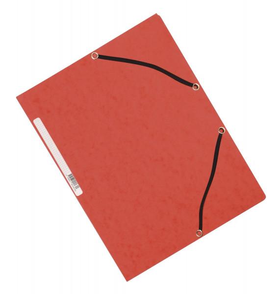 Q-Connect Eckspanner Karton A4 mit Gummizug rot