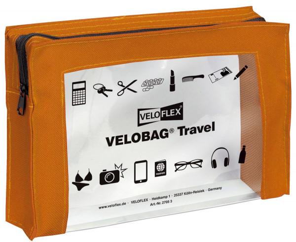 Veloflex® Reißverschlusstasche VELOCOLOR® Travel - PVC, orange, 230 x 160 mm