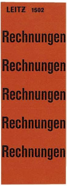 1502 Inhaltsschild Rechnungen, selbstklebend, 100 Stück, rot
