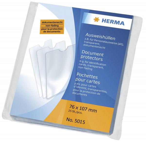 Herma 5015 Ausweishüllen 76x107 mm für Personalausweise