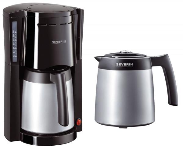 Kaffeemaschine - zwei Thermokannen, schwarz/silber