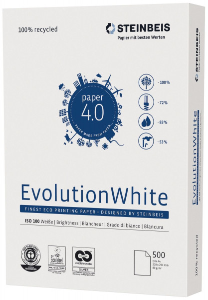 Evolution white A4, 80g, 500 Blatt