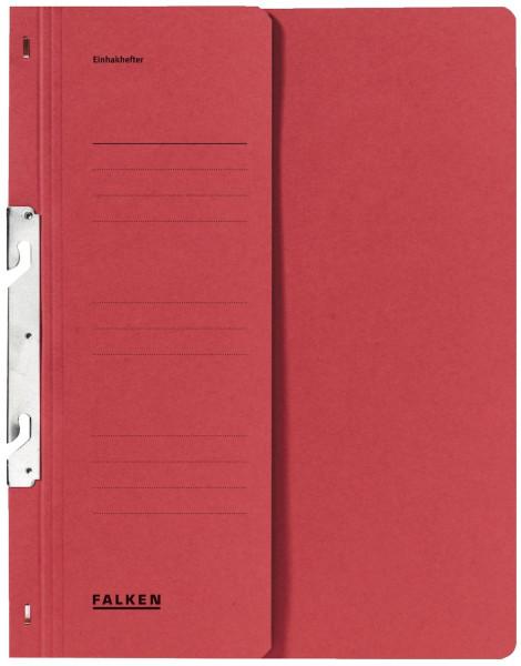 Falken Einhakhefter A4 rot halber Vorderdeckel kfm. Helfung, Manilakarton, 250 g/qm