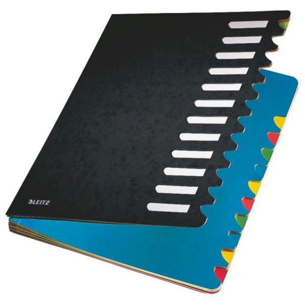 Leitz 5912 Deskorganizer Color 1-12, 12 Fächer, Karton, schwarz