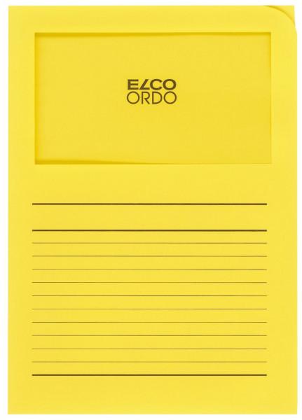 Elco Sichtmappen Ordo classico, mit Sichtfenster, intensiv gelb, 100 Stück