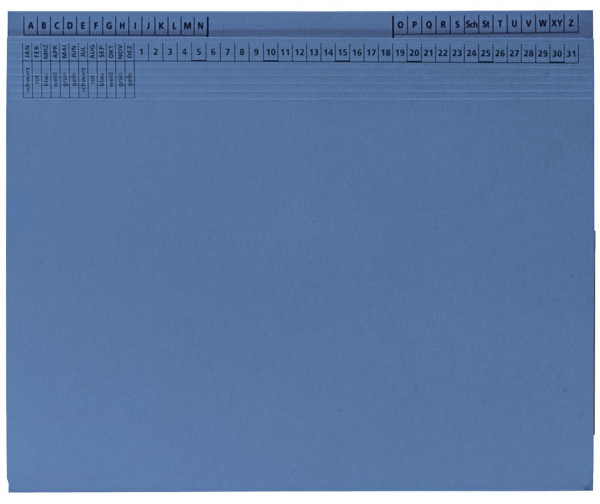 Kanzleihefter B ungefalzt - Rechtsheftung/Linksheftung, 1 Tasche, 1 Abheftvorrichtung, blau