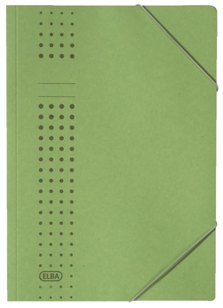 Elba Eckspanner chic, grün Karton (RC), 320 g/qm, A4