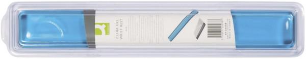 Gel-Tastatur-Handgelenkauflagen transparent - blau-transparent