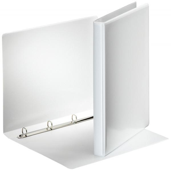 Ringbuch Präsentation, mit Taschen, A4, PP, 4 Ringe, 16 mm, weiß