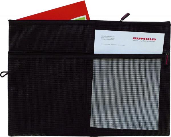 Rumold Sammeltasche für A3 - schwarz, gefüttertes Innenfach