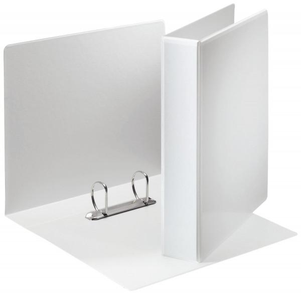 Ringbuch Präsentation, mit Taschen, A4, PP, 2 Ringe, 40 mm, weiß