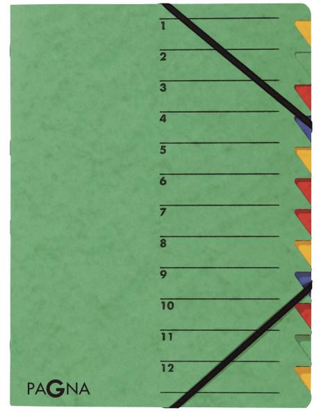 Ordnungsmappen EASY - mit 12 Fächern, grün