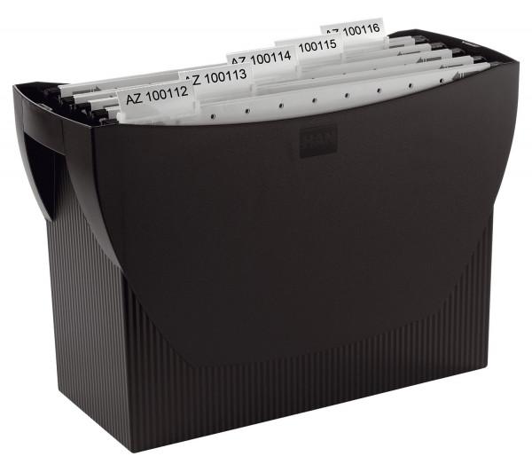 Hängemappenbox SWING, für 20 Hängemappen, schwarz