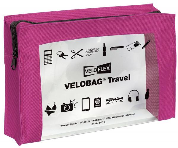 Veloflex® Reißverschlusstasche VELOCOLOR® Travel - PVC, pink, 230 x 160 mm