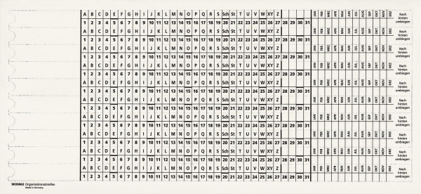 Zubehör Kanzleihefter - Organisationsstreifen, weiß, 100 Stück