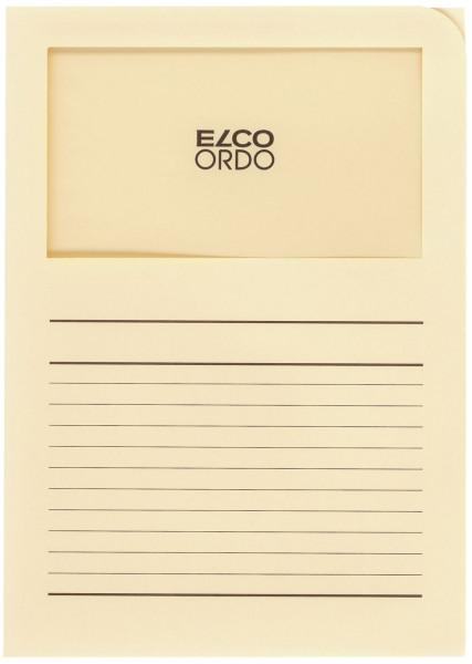 Elco Sichtmappen Ordo classico mit Sichtfenster hellchamois, 100 Stück