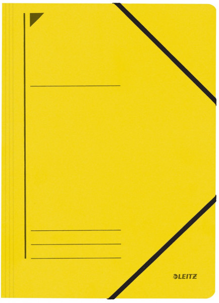 Leitz 3980 Eckspanner, gelb, A4, Füllhöhe 250 Blatt, Pentarec-Karton