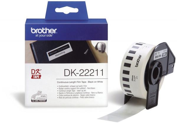 DK-Endlosetiketten Film-Etiketten 29 mm x 15,24 m weiß