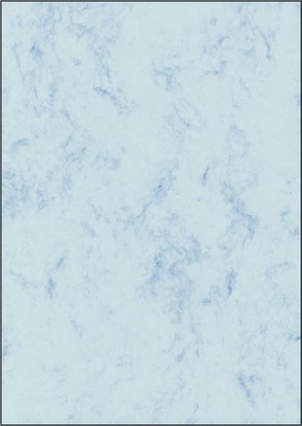 Marmor-Papier, blau, A4, 90 g/qm, 100 Blatt
